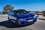 2018 BMW M5 Sedan in Marina Bay Blue Metallic - Driving Front Right View