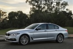 2018 BMW 530e iPerformance Sedan in Glacier Silver Metallic - Static Front Left Three-quarter View