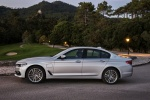 2018 BMW 530e iPerformance Sedan in Glacier Silver Metallic - Static Side View