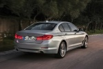 2018 BMW 530e iPerformance Sedan in Glacier Silver Metallic - Driving Rear Right View