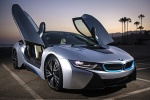 Picture of 2014 BMW i8 Coupe with doors open in Ionic Silver Metallic
