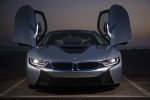 Picture of 2015 BMW i8 Coupe with doors open in Ionic Silver Metallic