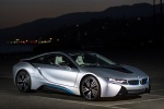 2016 BMW i8 Coupe in Ionic Silver Metallic - Static Front Right Three-quarter View