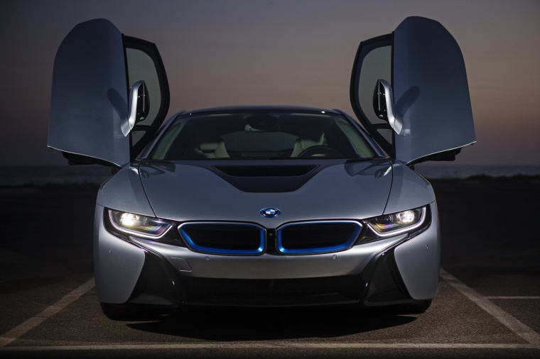 2017 BMW i8 Coupe with doors open Picture