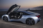 Picture of 2017 BMW i8 Coupe with doors open in Ionic Silver Metallic