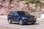 2018 BMW X1 xDrive28i in Mediterranean Blue - Driving Front Right Three-quarter View