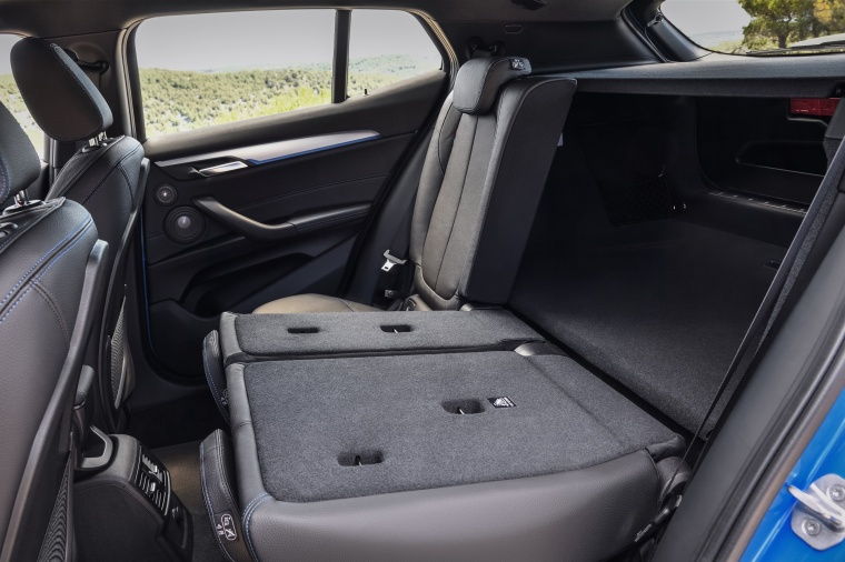 2018 BMW X2 Rear Seats Folded Picture