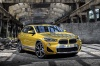 2018 BMW X2 in Galvanic Gold Metallic from a front right view
