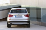 2012 BMW X3 xDrive35i in Mineral Silver Metallic - Static Rear View