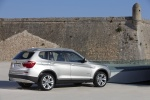 2012 BMW X3 xDrive35i in Mineral Silver Metallic - Static Rear Right Three-quarter View