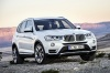 2016 BMW X3 in Mineral White Metallic from a front right view