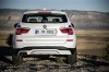 2017 BMW X3 in Mineral White Metallic from a rear view