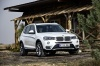 2017 BMW X3 in Mineral White Metallic from a front right three-quarter view