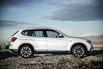 2017 BMW X3 in Mineral White Metallic - Static Side View