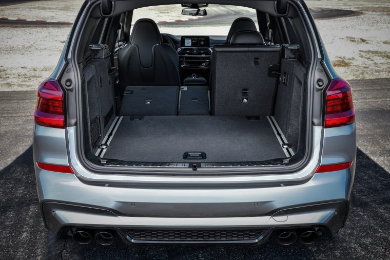 2020 BMW X3 M Competition Trunk with Rear Seat Folded Picture