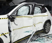 2020 BMW X3 IIHS Side Impact Crash Test Picture