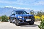 Picture of a 2020 BMW X3 M40i in Phytonic Blue Metallic from a front right perspective
