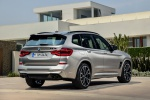 Picture of a 2020 BMW X3 M Competition in Donington Gray Metallic from a rear right three-quarter perspective