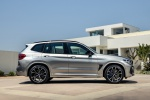 Picture of a 2020 BMW X3 M Competition in Donington Gray Metallic from a right side perspective
