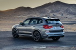 Picture of a 2020 BMW X3 M Competition in Donington Gray Metallic from a rear left three-quarter perspective