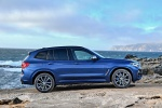 Picture of a 2020 BMW X3 M40i in Phytonic Blue Metallic from a right side perspective