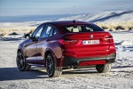 2017 BMW X4 in Melbourne Red Metallic - Static Rear Left View