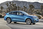 2017 BMW X4 M40i in Long Beach Blue Metallic - Static Front Right Three-quarter View