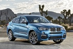 2017 BMW X4 M40i in Long Beach Blue Metallic - Static Front Right View