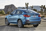 2017 BMW X4 M40i in Long Beach Blue Metallic - Static Rear Left View
