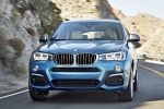 2017 BMW X4 M40i in Long Beach Blue Metallic - Driving Frontal View
