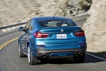 2017 BMW X4 M40i in Long Beach Blue Metallic - Driving Rear View
