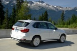 2017 BMW X5 xDrive50i in Alpine White - Driving Rear Right Three-quarter View