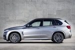 Picture of a 2018 BMW X5 M in Donington Gray Metallic from a side perspective
