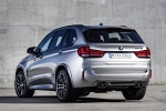 Picture of a 2018 BMW X5 M in Donington Gray Metallic from a rear left three-quarter perspective