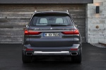 Picture of a 2019 BMW X7 xDrive40i AWD in Arctic Gray Metallic from a rear perspective