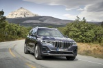 Picture of a driving 2019 BMW X7 xDrive40i AWD in Arctic Gray Metallic from a front right perspective