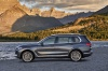 2019 BMW X7 xDrive40i AWD in Arctic Gray Metallic from a side view