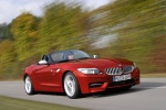 2012 BMW Z4 sdrive35is in Crimson Red - Driving Front Right Three-quarter View