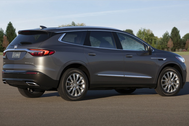 2019 Buick Enclave in Pepperdust Metallic from a rear right three-quarter view