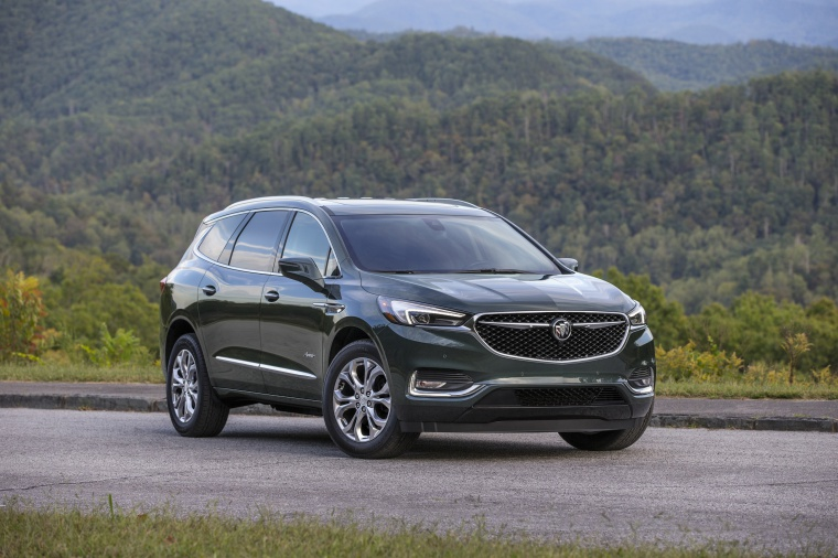 2019 Buick Enclave Avenir in Dark Slate Metallic from a front right view
