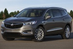 Picture of a 2019 Buick Enclave in Pepperdust Metallic from a front left three-quarter perspective