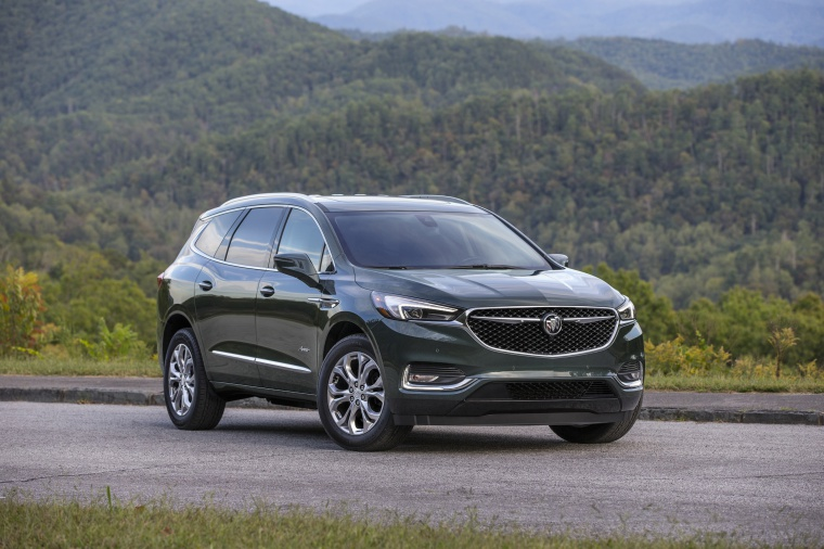 Picture of a 2020 Buick Enclave Avenir in Dark Slate Metallic from a front right perspective