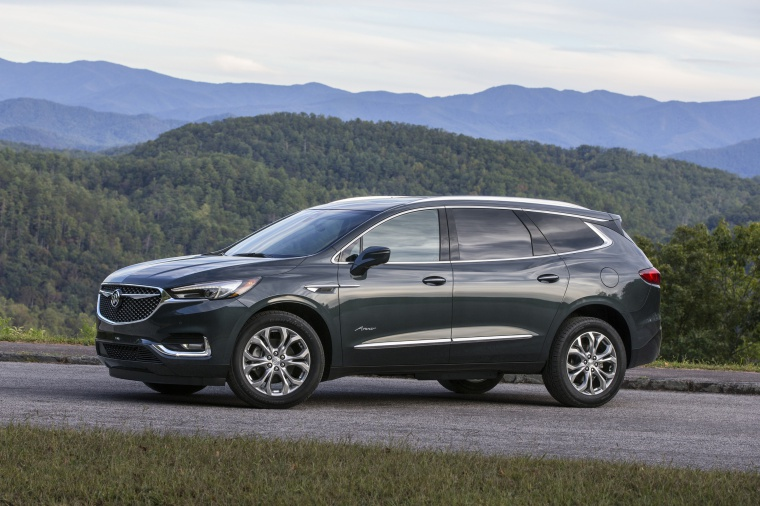 Picture of a 2020 Buick Enclave Avenir in Dark Slate Metallic from a side perspective