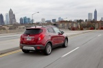 2016 Buick Encore in Winterberry Red Metallic - Driving Rear Right Three-quarter View