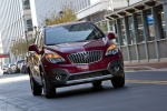 2016 Buick Encore in Winterberry Red Metallic - Driving Frontal View