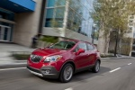 2016 Buick Encore in Winterberry Red Metallic - Driving Front Left Three-quarter View