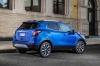 2018 Buick Encore in Coastal Blue Metallic from a rear right three-quarter view