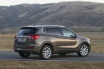 Picture of a 2017 Buick Envision AWD in Bronze Alloy Metallic from a rear right three-quarter perspective