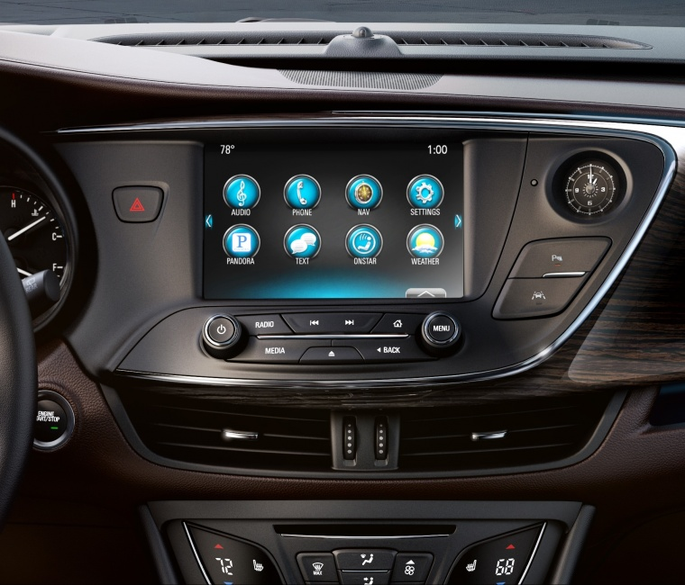 2018 Buick Envision Dashboard Screen Picture