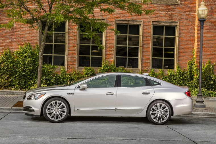 2017 Buick LaCrosse in Quicksilver Metallic from a side view